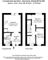 Floorplan of Goodwood Gardens, Downend, Bristol, BS16 6SH